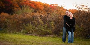 A fall WI outdoor engagement session
