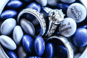 silver rings in blue m&ms, RK Photo and Design